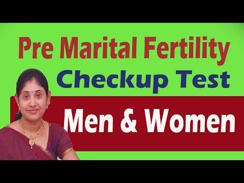 Pre Marital  Fertility Checkup Test Men & women in Tamil  Preconception Pregnancy Test Care diet