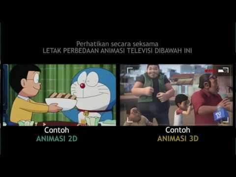 Penjelasan Perbedaan Animasi 2d Dan 3d Youtube