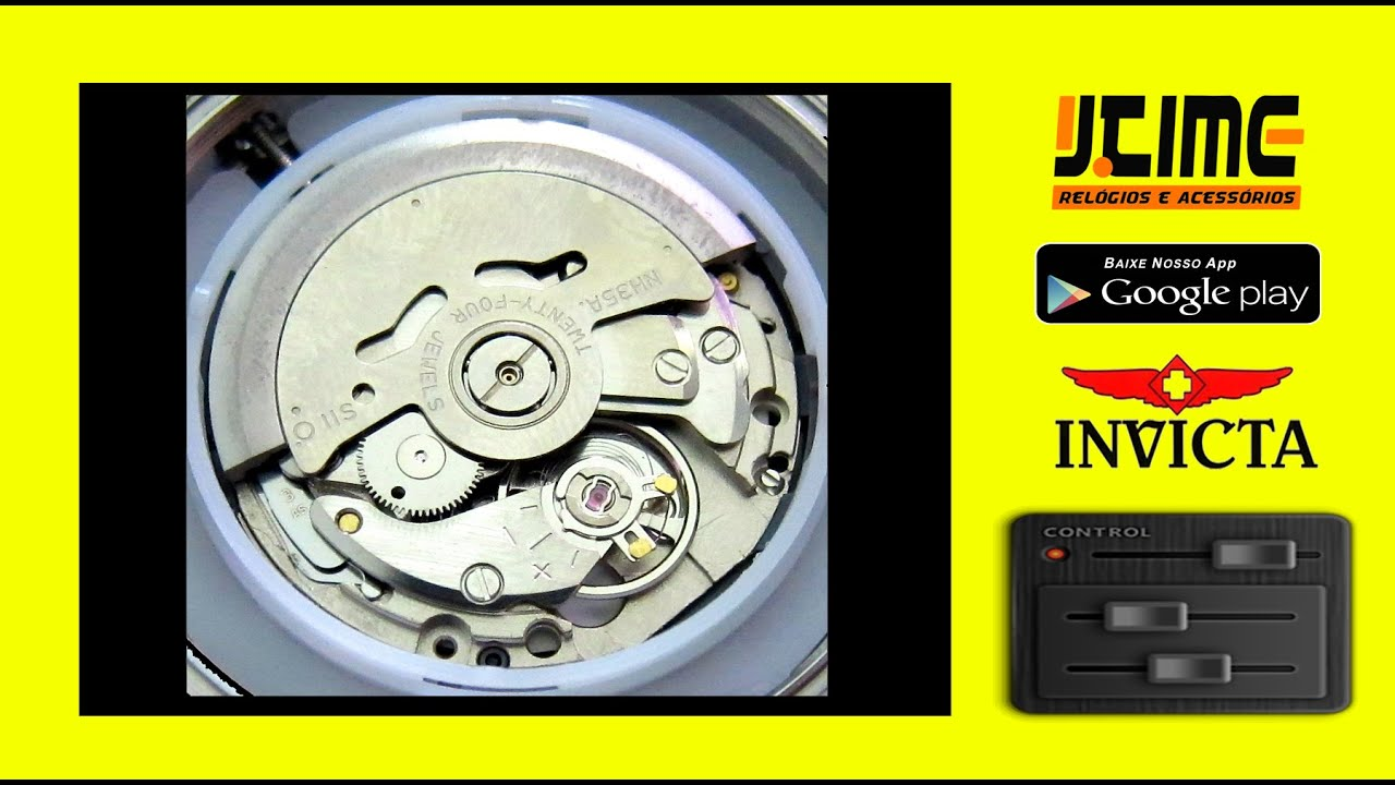 8ebb29fb472 Identifique o Caliber   Máquina Invicta Original x Réplica - Jtime. Jtime  Relógios