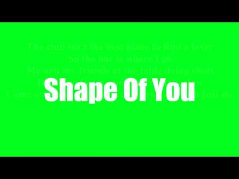 Ed Sheeran  - Shape Of You (Lyrics)