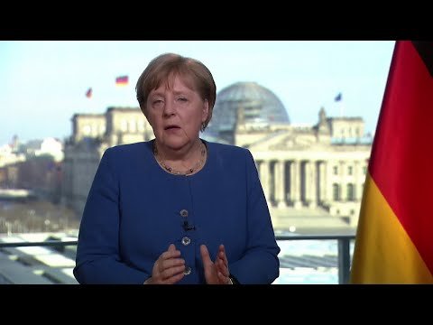 German Chancellor Angela Merkel: Coronavirus Germany's biggest challenge since WW2