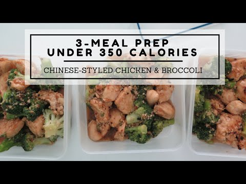 3-Meal Dinner Meal Prep Under 350 Calories: Chinese-Styled Chicken and Broccoli