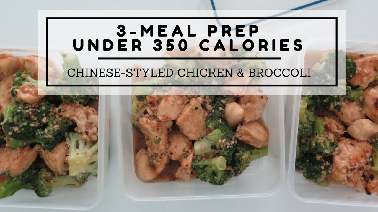 3-Meal Dinner Meal Prep Under 350 Calories Chinese-Styled -1865