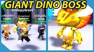 Ich besiegte den Riesen-Dinosaurier-König Boss in Roblox Dungeon Simulator