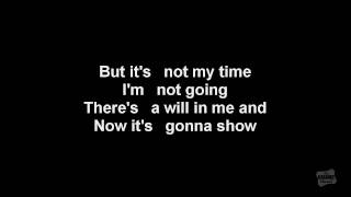 It's Not My Time in the style of 3 Doors Down karaoke video with lyrics