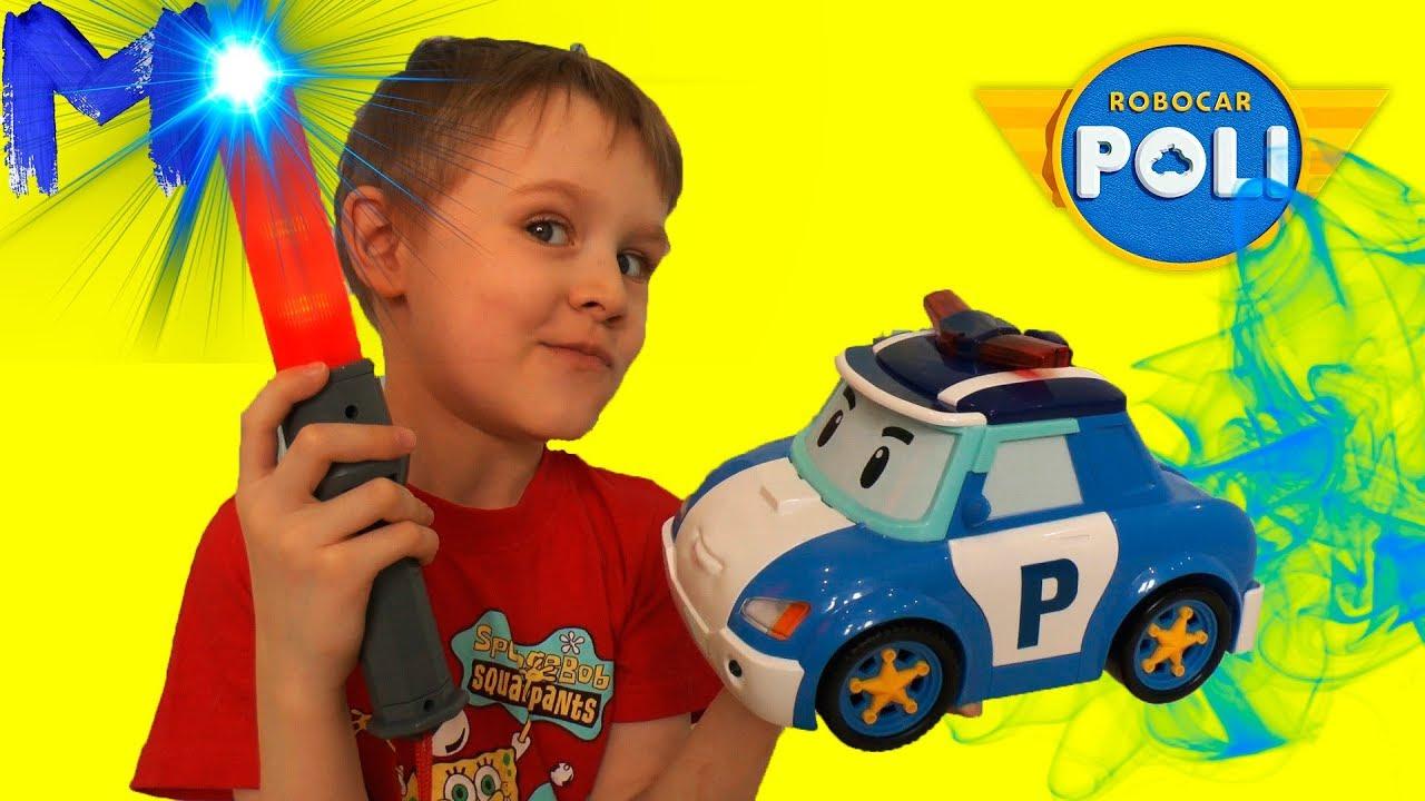 Робокар Поли машинка и жезл - Игрушки для мальчиков - Видео  для детей