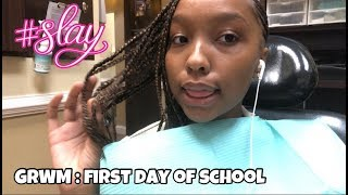 GRWM : getting ready for the first day of school VLOG | LilJava