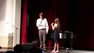 "Patriot's Got Talent 2015 Ryan and Joslyn at KPAC singing ""Say Something""."