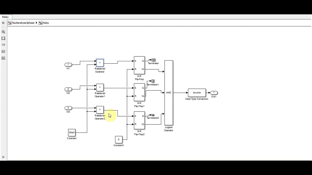 Fault Analysis Of 3 Phase System In Simulink  Usman Hari 08:25 HD