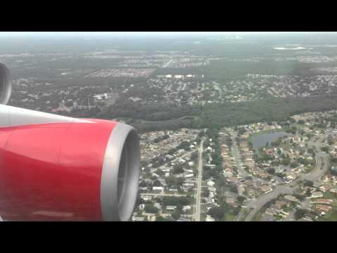 Virgin Atlantic landing at Orlando international airport. Vs073