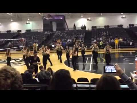 Oakland University Athletics Dance Team performing at the Homecoming game! Sep 20, 2014