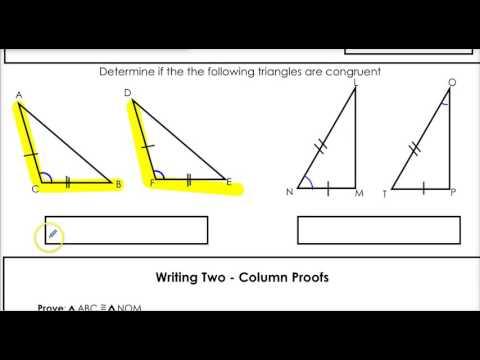 2.2  SAS and SSS congruence