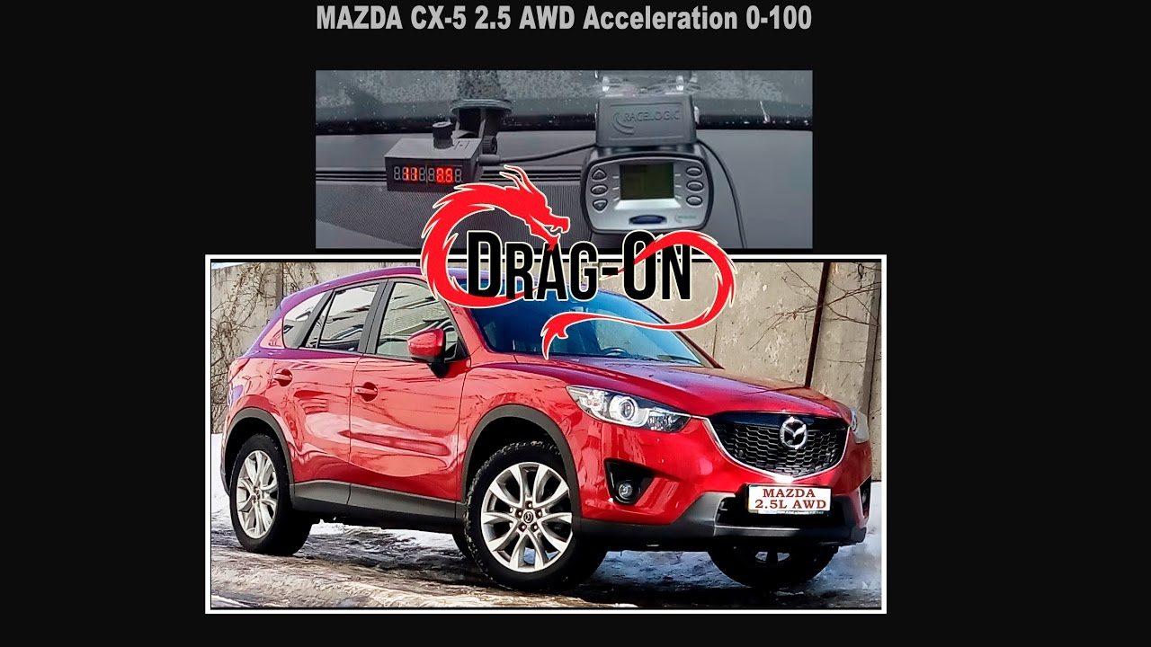 mazda cx-5 2.5 192 ps acceleration dragon(racelogic)/0-100/30-60