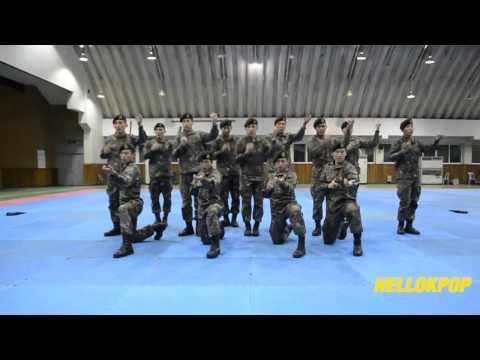 Korean Men In Army Uniform Dance To K-pop