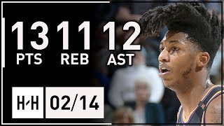 Elfrid Payton Triple-Double Full Highlights Suns vs Jazz (2018.02.14) - 13 Pts, 11 Reb, 12 Assists!