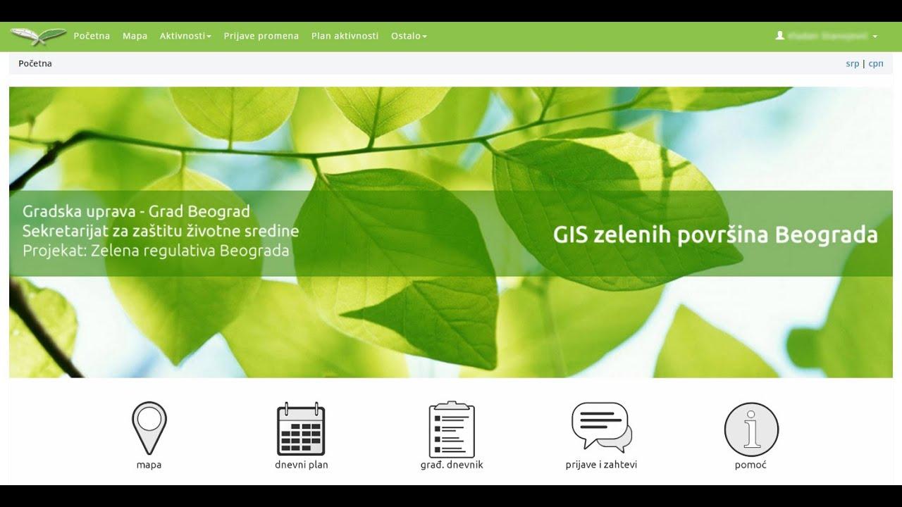 gis beograd mapa GIS zelenih površina grada Beograda   YouTube gis beograd mapa