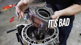 We Find HORRIBLE Damage inside the 3 Rotor. Engine Teardown and Rebuild with Welch's