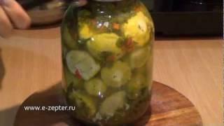 Патиссоны маринованные - видео рецепт