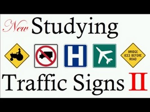 Studying Traffic Signs Symbols 2018 Teach Free Learning Rules Of
