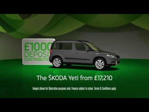 Skoda Yeti Available with 0% APR Finance, £1,000 DC and Three Year's Roadside Assistance!