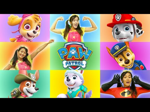 Paw Giant Smash Game | Superpup Marshall and Ellie Learn Shapes for Kids |