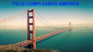 America   Landmarks & Lugares Famosos - Happy Birthday