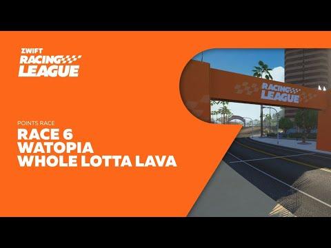 Zwift Racing League Season 2 // Race 6 - Whole Lotta Lava - Points Race