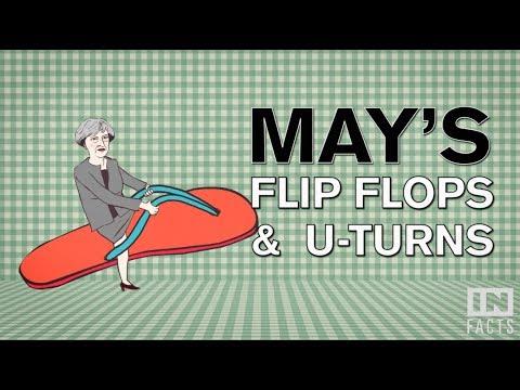 c6a5736fae6 Theresa May s flip-flops and U-turns - YouTube