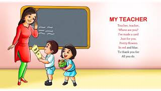 My Teacher   Nursery Rhymes & Songs for Children I Animated I Firefly Rhymes Video