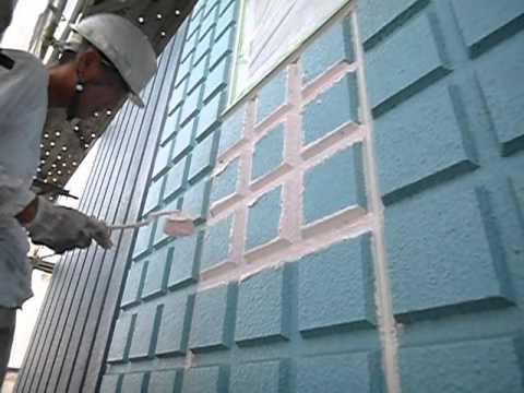 船橋市 外壁塗装 外壁改修工事 高弾性防水塗装編