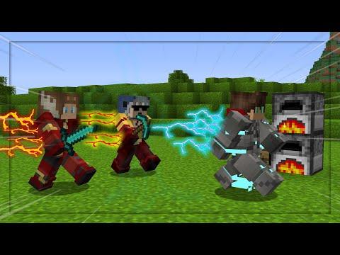 Minecraft Manhunt but we installed The Flash Mod