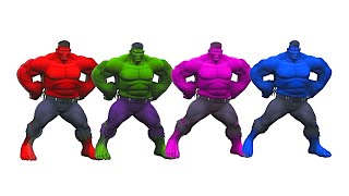 Learn Colors With Five HULK DANCING LEARN COLORS for KID
