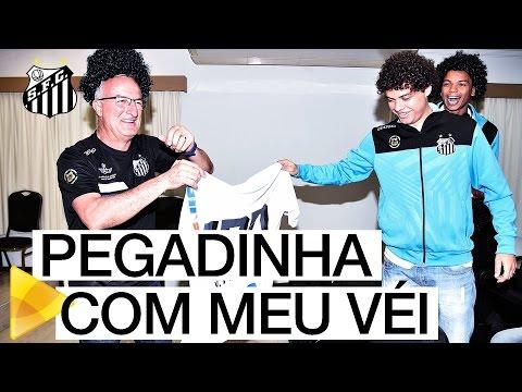 #MeuVei100 | Victor Ferraz cai em pegadinha da Santos TV