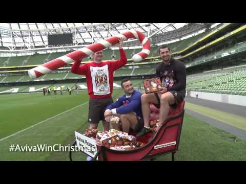 Win Christmas from Aviva Home Insurance Rob & Dave Kearney, Donnacha Ryan - Photocall Vide