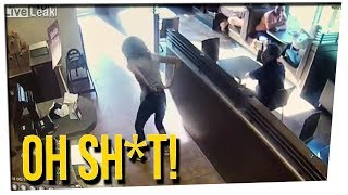 WS - Woman Goes Nuts at Tim Horton's Co...