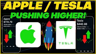 Apple and tesla stock update: what's next?   technical analysis on & #aapl #tsla