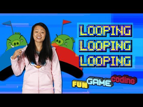 Angry Birds Fun Game Coding   Looping - S1 Ep9