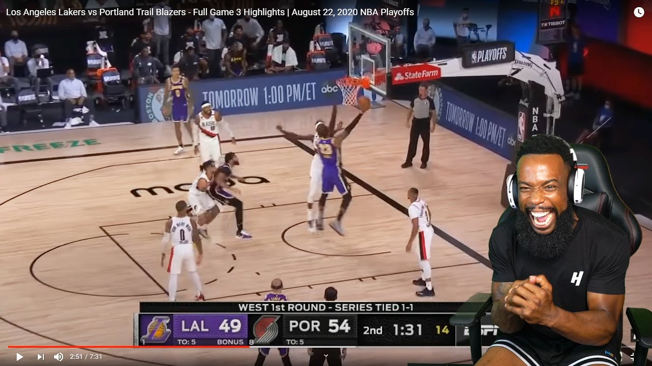Lebron Hot Los Angeles Lakers Vs Portland Trail Blazers Full Game 3 Highlights Nba Playoffs Youtube