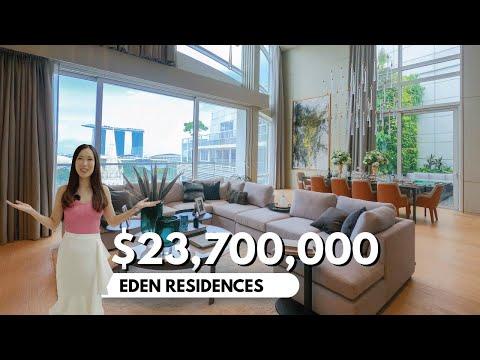 Inside a $23Million Ultra-luxurious Duplex Penthouse | Eden Residences | Singapore Property Tour