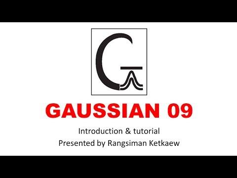 แนะนำโปรแกรม Gaussview และ Gaussian Part 2 - YouTube