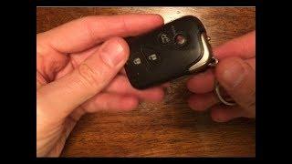 lexus remote key battery dead