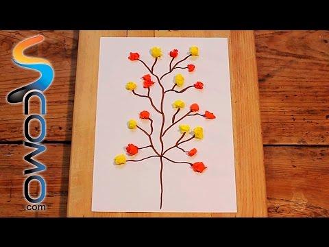 Cómo hacer con papel pinocho un árbol otoñal decorativo