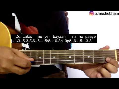 Teri Meri Prem Kahaani Guitar Tabs Tutorial | Bodyguard | Shubham Joshi