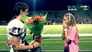😍😍 CUTEST HIGH SCHOOL FOOTBALL PROMPOSAL, EVER🌹 | BOWIE HS - FANSTAND '15