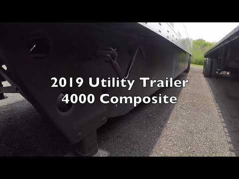 2019 Utility 4000 Composite trailer