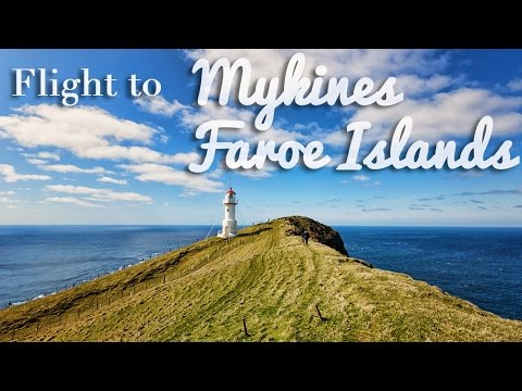 Flying to Mykines, Faroe Islands