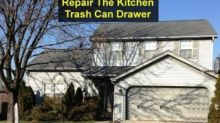 How to repair or replace your kitchen trash can drawer. - VOTD