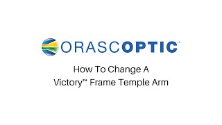 How To Change A Victory Frame Temple Arm