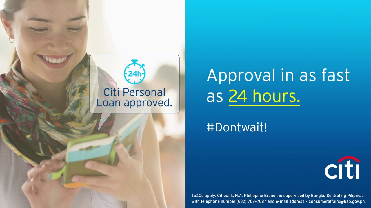 PH Citi Personal Loan - Approval in as Fast as 24 Hours! - YouTube