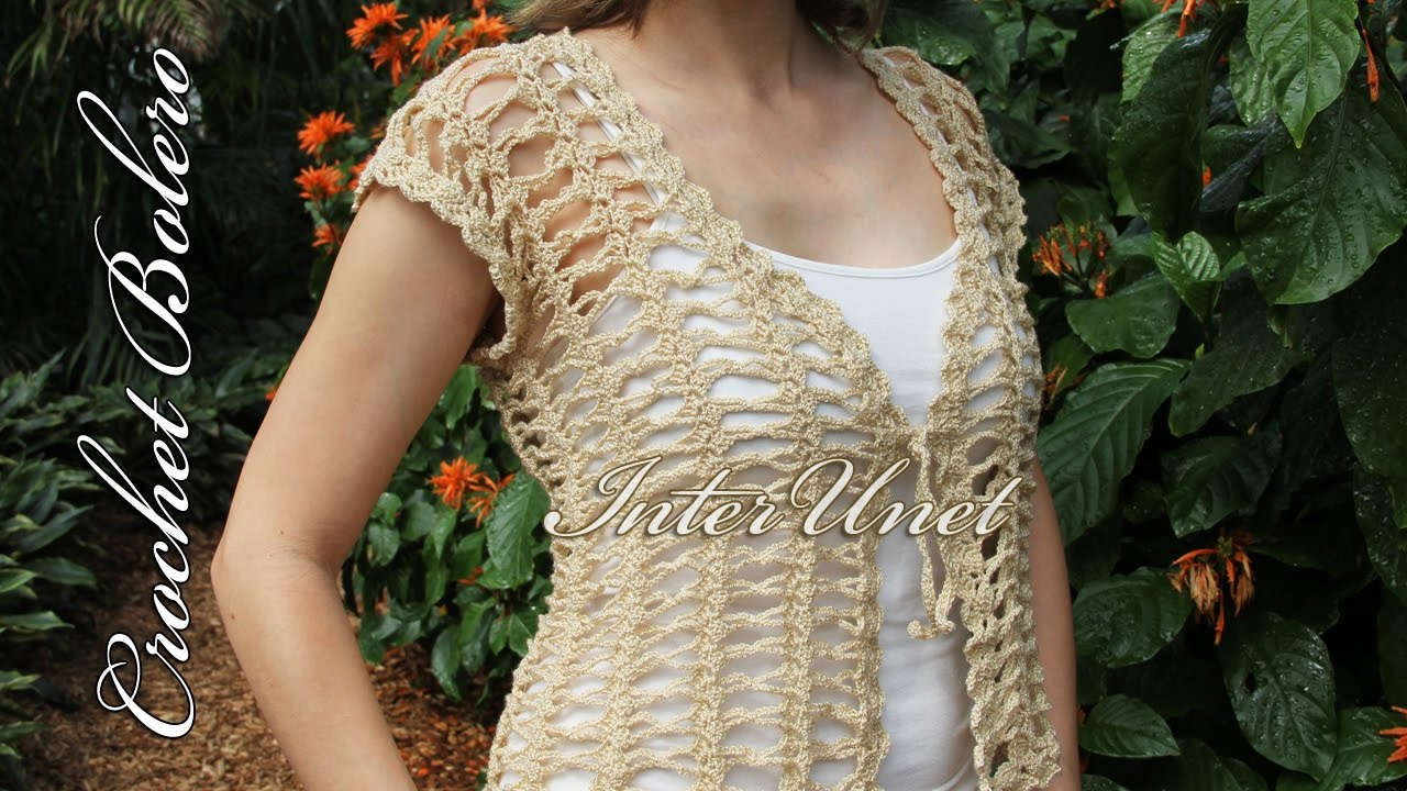 Lace Jacket Bolero Crochet Pattern